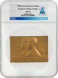 Explorers:Space Exploration, Orville & Wilbur Wright: 1909-Dated MS66 NGC Bronze Plaque...