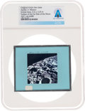 Explorers:Space Exploration, Apollo 11 Original NASA Glass Film Slide, an Image of Surf...