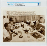 "AP Original Wirephotos: ""A Working Breakfast"" July 16, 1969, Directly From The Armstrong Family Collection™, C..."