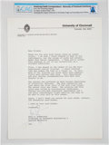 Explorers:Space Exploration, Neil Armstrong 1979 Typed Letter Signed Regarding His Late...