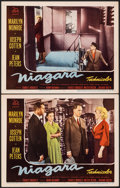 "Movie Posters:Film Noir, Niagara (20th Century Fox, 1953). Very Fine-. Lobby Cards (2) (11"" X 14""). Film Noir.. ... (Total: 2 Items)"