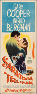 """Movie Posters:Drama, Saratoga Trunk & Other Lot (Warner Bros., 1945). Folded, Overall: Fine+. Insert (14"""" X 36"""") & Lobby Cards (2) (11"""" X 14""""). D... (Total: 3 Items)"""