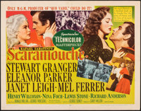"Scaramouche (MGM, 1952). Folded, Fine/Very Fine. Half Sheet (22"" X 28""). Swashbuckler"