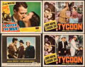 """Movie Posters:Western, The Searchers & Other Lot (Warner Bros., 1956). Fine/Very Fine. Trimmed Lobby Card (11"""" X 13.25"""") & Lobby Cards (3) (11"""" X 1... (Total: 4 Items)"""