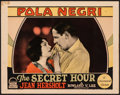 "Movie Posters:Drama, The Secret Hour (Paramount, 1928). Fine/Very Fine. Lobby Card (11"" X 14""). Drama.. ..."