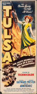 "Movie Posters:Western, Tulsa (Eagle Lion/United Artists, 1949/R-1952). Folded, Fine+. Insert (14"" X 36"") & Lobby Cards (6) (11"" X 14""). Western.. ... (Total: 7 Items)"