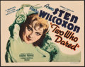 """Movie Posters:Drama, Two Who Dared (Grand National, 1936). Fine+ on Paper. Title Lobby Card (11"""" X 14""""). Drama.. ..."""