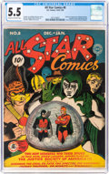 All Star Comics #8 (DC, 1942) CGC FN- 5.5 Cream to off-white pages