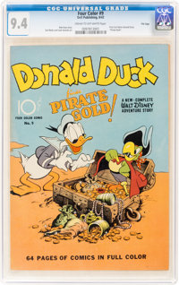 Four Color #9 Donald Duck - File Copy (Dell, 1942) CGC NM 9.4 Cream to off-white pages