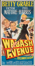 "Movie Posters:Musical, Wabash Avenue (20th Century Fox, 1950). Folded, Fine/Very Fine. Three Sheet (41"" X 79""). Musical.. ..."