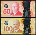 World Currency, Canada Bank of Canada $50; $100 2012; 2011 BC-72a; BC-73a Two Polymer Examples Gem Crisp Uncirculated.. ... (Total: 2 items)