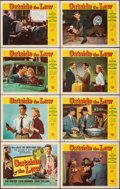 Movie Posters:Crime, Outside the Law & Other Lot (Universal International, 1956). Overall: Very Fine-. Lobby Card Set of 8, Title Lobby Card, Lob... (Total: 16 Items)