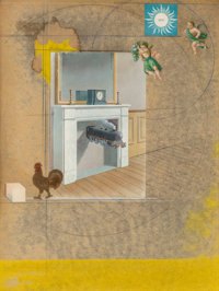 Joseph Cornell (1903-1972) Time Transfixed, 1966 Mixed media and collage on board 12 x 9 inches (