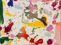 Paintings, Sam Francis (1923-1994). Untitled, 1989. Acrylic on canvas. 9 x 12 inches (22.9 x 30.5 cm). Signed, dated, and dedicated...