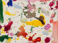 Sam Francis (1923-1994) Untitled, 1989 Acrylic on canvas 9 x 12 inches (22.9 x 30.5 cm) Signed