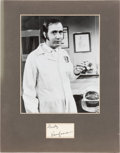 Movie/TV Memorabilia:Autographs and Signed Items, Andy Kaufman Signature Matted With Black and White Photo. ...