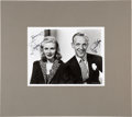 Movie/TV Memorabilia:Autographs and Signed Items, Fred Astaire and Ginger Rogers Signed Black and White Photo With Matte (1976). ...