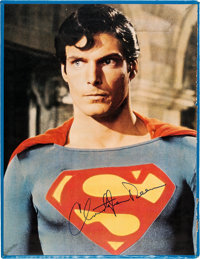 Christopher Reeve Signed Superman Picture