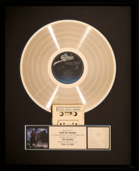 Stevie Ray Vaughan Soul To Soul RIAA Hologram Gold Sales Award Presented to Vaughan (Epic, 1985)
