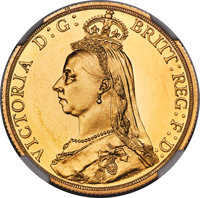 Heritage Select. 198. Great Britain: Victoria gold Proof 2 Pounds 1887 PR66 Cameo NGC, KM768, S-3865. A magnificen(PCGS#...