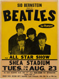 Music Memorabilia:Posters, The Beatles 1966 Genuine Shea Stadium NY Concert Poster, Long-Lost Original Just Found....
