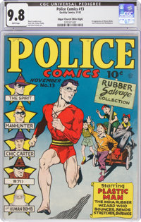Police Comics #13 (Quality, 1942) CGC NM/MT 9.8 White pages