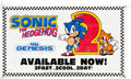 "Video Games:Nintendo, Sonic the Hedgehog 2 ""Sonic 2sday"" Sega Genesis Promotional Advertisement Banner...."