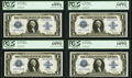 Fr. 238 $1 1923 Silver Certificates Cut Sheet of Four. ... (Total: 4 notes)