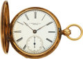 Timepieces:Pocket (pre 1900) , E. Howard & Co. Very Rare I Size (10 Size) Original Gold C...