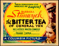 Movie Posters:Drama, The Bitter Tea of General Yen (Columbia, 1933). Very Fine....