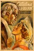 """Movie Posters:Drama, Catherine the Great (Guaranteed, 1943). Folded, Very Fine-. First-Release Argentinean One Sheet (29"""" X 43"""") Osvaldo Venturi ..."""