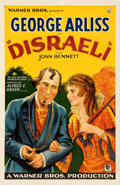 "Movie Posters:Drama, Disraeli (Warner Bros., 1929). Very Fine- on Paper. One Sheet (26.5"" X 40.5""). Style B. From the Mike Kaplan Collection...."