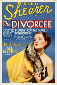 "The Divorcee (MGM, 1930). Folded, Very Fine. One Sheet (27"" X 41""). From the Mike Kaplan Collection"