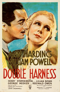 """Double Harness (RKO, 1933). Folded, Very Fine-. One Sheet (27"""" X 41""""). From the Mike Kaplan Collection"""