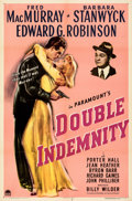 Movie Posters:Film Noir, Double Indemnity (Paramount, 1944). Folded, Very Fine....