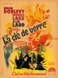 """Movie Posters:Film Noir, The Glass Key (Paramount, 1948). Folded, Fine/Very Fine. First Post-War Release French Moyenne (23.5"""" X 31.5"""") Roger Soubie ..."""