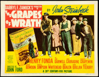 """The Grapes of Wrath (20th Century Fox, 1940). Fine/Very Fine. Title Lobby Card (11"""" X 14""""). From the Mike Kapl..."""