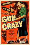 "Movie Posters:Film Noir, Gun Crazy (United Artists, 1950). Folded, Very Fine+. One Sheet (27"" X 41""). From the Mike Kaplan Collection.. ..."
