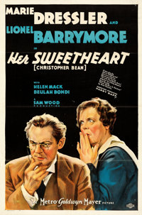 "Her Sweetheart, Christopher Bean (MGM, 1933). Folded, Very Fine. One Sheet (27"" X 41"") Style D. From the Mike..."
