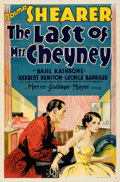 """Movie Posters:Crime, The Last of Mrs. Cheyney (MGM, 1929). Folded, Very Fine. One Sheet (27"""" X 41""""). From the Mike Kaplan Collection.. ..."""