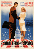 Movie Posters:Drama, Mr. Smith Goes to Washington (Columbia, 1949). Folded, Ver...