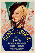 """Movie Posters:Drama, Music is Magic (Fox, 1935). Folded, Very Fine. One Sheet (27"""" X 41""""). From the Mike Kaplan Collection.. ..."""