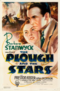 "Movie Posters:Drama, The Plough and the Stars (RKO, 1936). Folded, Very Fine-. One Sheet (27"" X 41""). From the Mike Kaplan Collection.. ..."