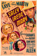 "Movie Posters:Comedy, Sally, Irene and Mary (20th Century Fox, 1938). Folded, Fine/Very Fine. One Sheet (27"" X 41"") Style A. From the Mike Kapla..."