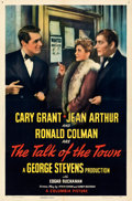 Movie Posters:Comedy, The Talk of the Town (Columbia, 1942). Folded, Very Fine-....