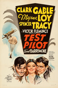 """Test Pilot (MGM, 1938). Folded, Very Fine-. One Sheet (27"""" X 41"""") Style D. From the Mike Kaplan Collection..."""