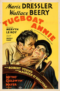 "Tugboat Annie (MGM, 1933). Folded, Fine/Very Fine. One Sheet (27"" X 41"") Style C. From the Mike Kaplan Collect..."