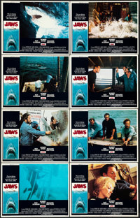 "Jaws (Universal, 1975). Very Fine. Lobby Card Set of 8 (11"" X 14""). Roger Kastel Artwork. ... (Total: 8 Items)"