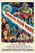 Movie Posters:Science Fiction, Invaders from Mars (20th Century Fox, 1953). Folded, Very ...