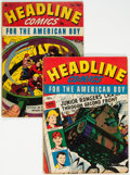 Golden Age (1938-1955):Crime, Headline Comics #3 and 5 Group (Prize, 1943) Condition: Average GD/VG.... (Total: 2 Comic Books)